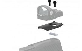 Sig Sauer Electro-Optics SOR1MK011 Romeo1 Mounting Kit For Glock MOS 1-Piece Style Black Finish