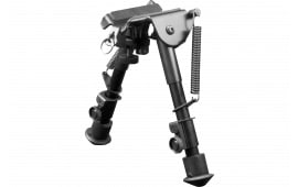 """Aim Sports BPHS01 H-Style Bipod Black Aluminum and Carbon Steel 6.5-9"""""""