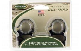 "Weaver Mounts 49513 Detachable See Thru 1"" Dia Gloss Black"