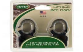 "Weaver Mounts 49523 Detachable See Thru 1"" Dia Matte Black"