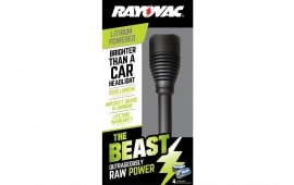 Rayovac RWP123AB Beast Flashlight 2000 Lumens 123A (4) Black