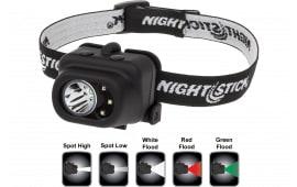 Nightstick NSP4610B Multi-Function Headlamp 150/80/100/9/18 Lumens AAA (3) Black
