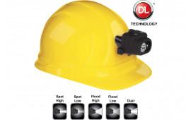 Nightstick NSP4608BC Dual Light Headlamp with Hard Hat Clip 100/60/90/50/180 Lumens AAA (3) Black