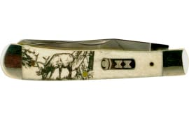 "Case 50438 Sportsman Trapper Folder 3.25""/3.27"" Stainless Steel Clip Point/Spey Bone"