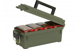 "Plano 121202 Shell Box 4 Boxes Ammo Box 13.62"" x 5.6"" x 5.6"" Plastic Olive Drab"