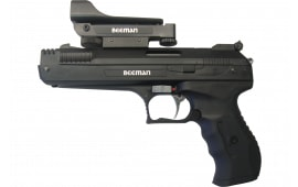 Beeman 2006 P17 Deluxe Air Pistol with Red Dot Scope .177 Pellet Post Front/Adj Rear Synthetic Grip/Frame Black