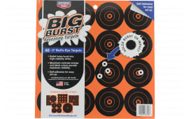 "Birchwood Casey 36348 Big Burst 3"" Bullseye Self-Adhesive 16 Per Page/3 Pages"