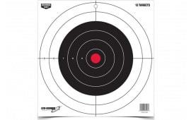 """Birchwood Casey 37013 EZE-SCORER 12"""" Bullseye Paper TGT 13PK"""