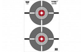 Birchwood Casey 37061 EZE-SCORER 12X18 DBL Bullseye 100PK
