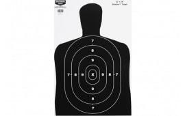 """Birchwood Casey 37202 Eze-Scorer BC-27 Silhouette 12""""x18"""" Black/White Paper 10 Pack"""
