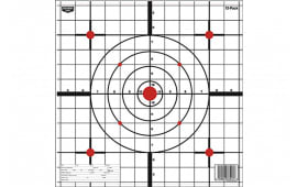 "Birchwood Casey 37213 Eze-Scorer Sight-In Bullseye/Crosshair 12"" x 12"" Paper 13 Pack"