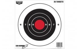"""Birchwood Casey 37826 EZE-SCORER 8"""" Bullseye Paper TGT 26PK"""