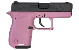 "Diamondback DB380HP Micro-Compact DAO 380 ACP 2.8"" 6+1 Pink Poly Grip/Frame Black"