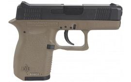 """Diamondback DB380FDE Micro-Compact DAO 380 ACP 2.8"""" 6+1 FDE Poly Grip/Frame Black"""