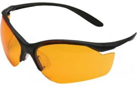 Howard Leight R01537 Vapor II Shooting/Sporting Glasses Black Frame/Orange Lens