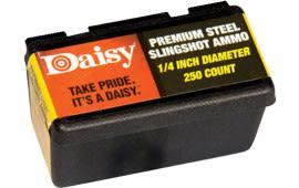 Daisy 8114 Slingshot Ammo Black .25 250pk