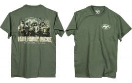 Duck Commander Dcshirtmffd Faith.Family.Ducks. T-Shirt Moss Green S Cotton