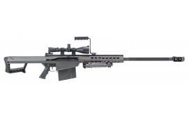 "Barrett 13317 M82 A1 with Scope Semi-Auto .50 BMG 29"" FB 10+1 Fixed Metal Black Phosphate - Includes Leupold Mk 4 Lr/t M1 4.5-14x50mm Scope & Barrett 30mm Ultra-High Rings"