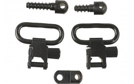 "Uncle Mikes 14612 Quick Detach Sling Swivels 1"" Black Steel Ruger"