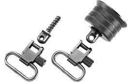 "Uncle Mikes 18015 Mag Cap Swivel Set 1"" Black Steel Fits Remington 870/870 Youth 20 Gauge"