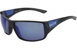 Bolle 11928 Tigersnake Sporting Glasses Shiny Black/Matte Blue Frame Blue Mirror Lens