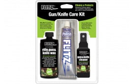 Flitz KG41501 Gun & Knife Care Kit 4 Pieces Polish/Cleaner/Wax/Cloth Universal