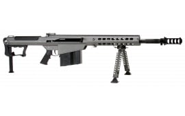 "Barrett 14552 M107A1 Semi-Auto .50 BMG 20"" 10+1 Fixed Metal Gray Stock Gray Cerakote/Black Parkerized"