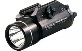 Streamlight 69110 TLR-1 Rail Mounted Flashlight LED 300 Lm CR123A (2) Alum Black