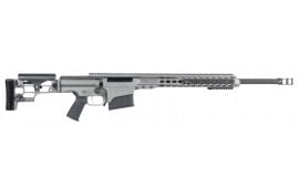 "Barrett 14386 MRAD Bolt .338 Lapua Mag 24"" 10+1 Folding Gray Stock Gray Cerakote/Black"