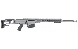 """Barrett 15472 MRAD Bolt 7mm Rem Mag 24"""" 10+1 Folding Gray Stock Gray Cerakote/Black"""