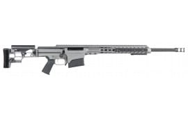 "Barrett 14449 MRAD Bolt 6.5 Creedmoor 24"" 10+1 Folding Gray Stock Gray Cerakote/Black"