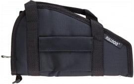"Bulldog BD600 Small Pistol Rug with Pocket and Handles Nylon Black 12"" x 6"""