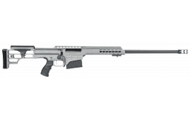 "Barrett 14802 M98B .338 Lapua Mag 24"" 10+1 Fixed Metal Gray Stock Gray Cerakote"
