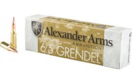 Alexander Arms 6.5 Grendel 123 Grain Lapua Scenar Boat Tail Hollow Point 20/Box - 20rd Box