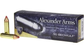 Alexander Firearms AB300FTXBX 50 Beowulf 300 FTX 20/20 - 20rd Box