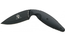 "Ka-Bar 1482 TDI Large Law Enforcement Knife Fixed 3.69"" AUS-8A Drop Point Plain FRN Black Hndl"