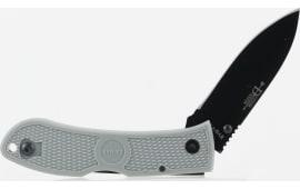 """Ka-Bar 4062GY Dozier Hunter Folder 3"""" AUS-8A Stainless Steel Drop Point Fiberglass Reinforced Nylon Gray"""