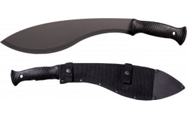"Cold Steel 97KMS Tactical Kukri Machete 13"" Black 1055 Carbon Steel Black Poly Handle"