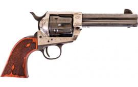 Cimarron PP410LSFW Uberti Frontier 45LC 4.75 Silver Frame Laser Revolver