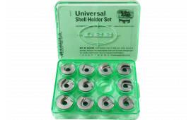 Lee 90197 Universal Shellholder Set 11 Green Storage Box
