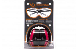 Pyramex VGCCOMBO8617 Ever Lite Range Kit Earmuff/Shooting Glasses 26 dB Black/Pink