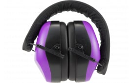 Pyra VGPM8065C Earmuffs Purple NRR26 Clam Pack