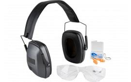 Safariland 1218592 Professional Eye & Ear Range Kit Earmuff/Plugs/Glasses 33 dB Black