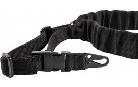 "Blue Force Gear UDC200BGHKBK UDC Single Point Padded Bungee Adjustable x 2"" Snap Hook Cordura Black"