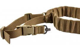 "Blue Force Gear UDC200BGPBCB UDC Single Point Padded Bungee Adjustable x 2"" Push Button Cordura Coyote Tan"