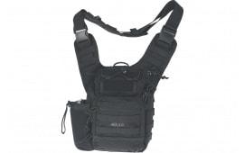 "Drago Gear 15303BL Ambidextrous Shoulder Pack Satchel 600D Polyester 11.5"" x 10"" x 8"" Black"