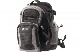 "Drago Gear 14310SH Defender Backpack 600D Polyester 17.5"" x 14.5"" x 11.25"" Black/Gray"