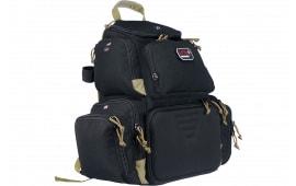 """G*Outdoors 1711BPBT Handgunner Range Bag/Backpack 600D Polyester 16"""" x 10"""" x 19"""" Tan/Black"""