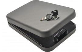 "SnapSafe 75200 Lock Box Keylock Pistol Safe Large Key 9.5"" x 6.5"" x 1.75"" 18GA Steel Black"