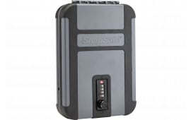 "SnapSafe 75241 TrekLite Lock Box Combination Lock Personal Safe Mechanical Dial Single 10"" x 7"" x 2"" (External) Polycarbonate Black/Gray"
